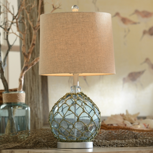 Blue Glass Table Lamp | Kirklands on Lanterns At Kirklands id=91022