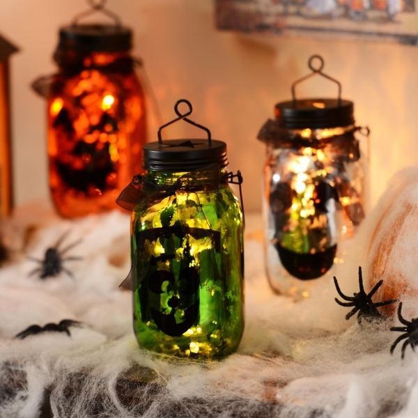 Frankenstein Mason Jar Lantern | Kirklands on Lanterns At Kirklands id=65773