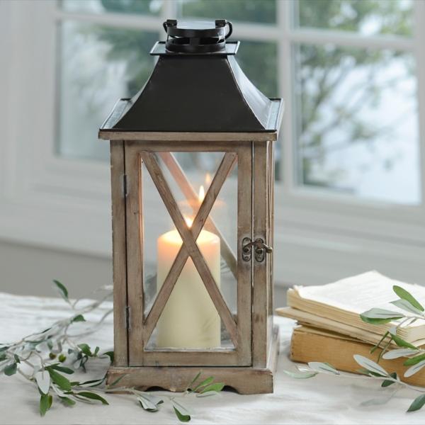 Natural Wood Lantern | Kirklands on Lanterns At Kirklands id=12045