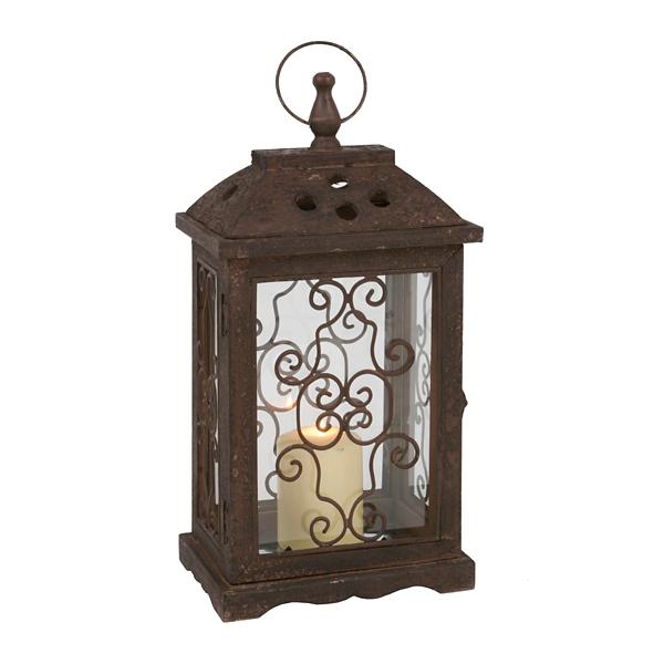 Antique Brown Wood Lantern | Kirklands on Lanterns At Kirklands id=71247