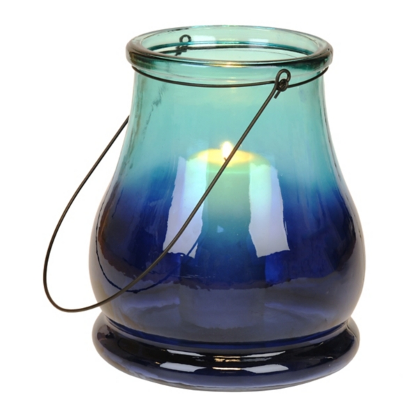 Blue Ombre Lantern | Kirklands on Lanterns At Kirklands id=60357