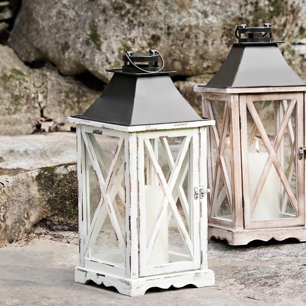 Distressed Cream Lantern | Kirklands on Lanterns At Kirklands id=82189