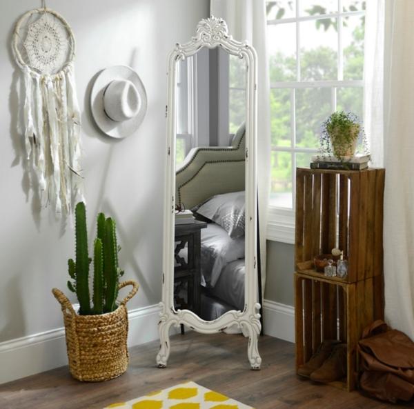 Distressed White Morgan Cheval Mirror | Kirklands on Floor Mirrors Decorative Kirklands id=67355