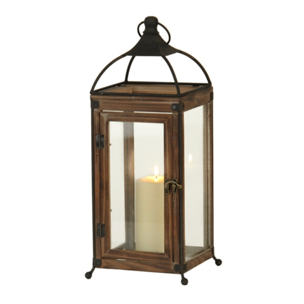 Wood and Iron Lantern | Kirklands on Lanterns At Kirklands id=97324