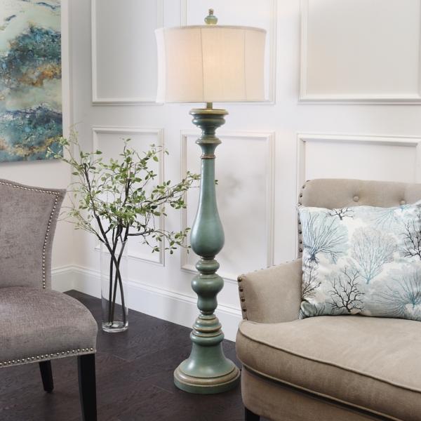 Burks Turquoise Floor Lamp | Kirklands on Lanterns At Kirklands id=33124