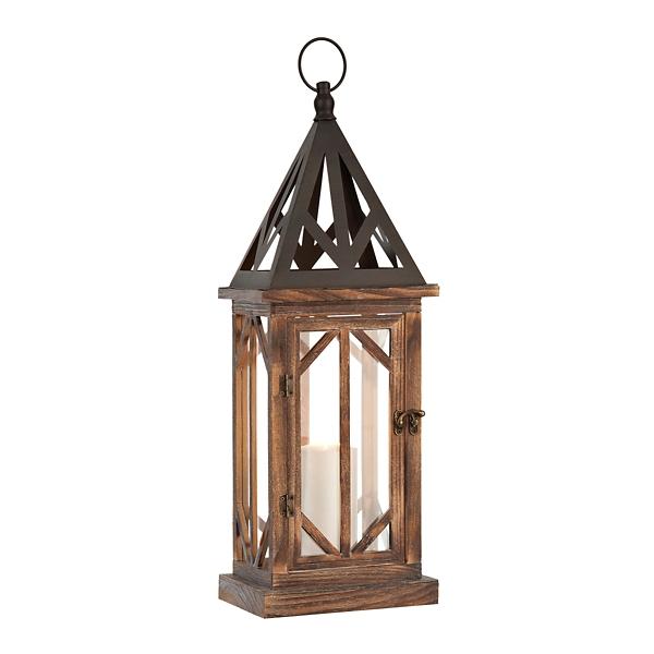Bella Pierced Wood Lantern | Kirklands on Lanterns At Kirklands id=46705