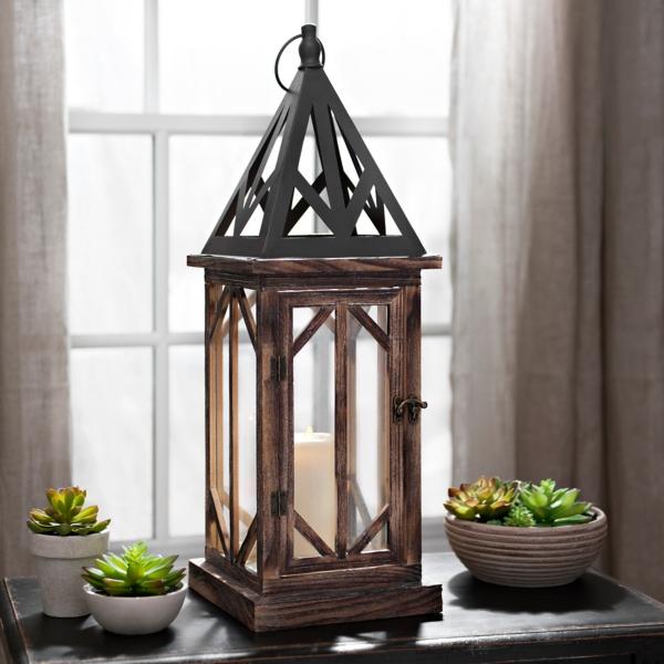 Bella Pierced Wood Lantern | Kirklands on Lanterns At Kirklands id=35978