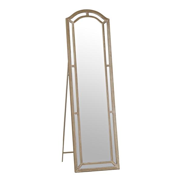 Christa Distressed Cream Cheval Floor Mirror | Kirklands on Floor Mirrors Decorative Kirklands id=48067