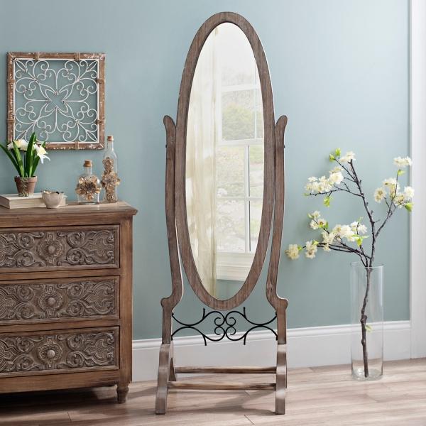 Oval Elaina Cheval Floor Mirror | Kirklands on Floor Mirrors Decorative Kirklands id=64397
