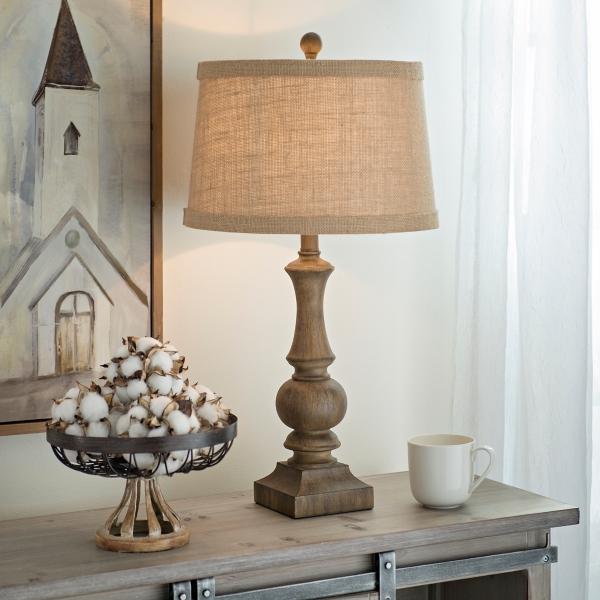 Woodgrain Table Lamp | Kirklands on Lanterns At Kirklands id=21807
