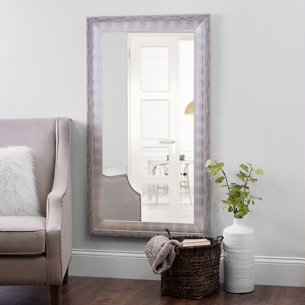Whitewashed and Silver Foil Wall Mirror | Kirklands on Floor Mirrors Decorative Kirklands id=49310