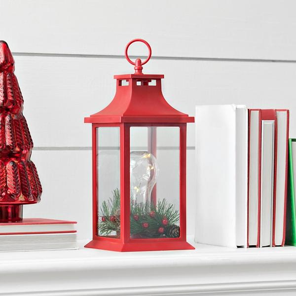 Red Light Bulb Christmas Lantern | Kirklands on Lanterns At Kirklands id=67216