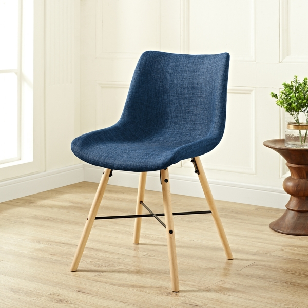 blue linen upholstered dining chairs set of 2