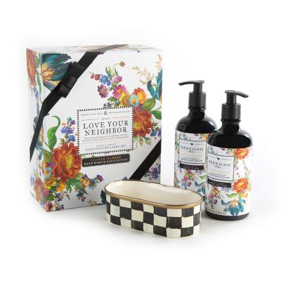MacKenzie Childs Flower Market Hand Soap Amp Lotion Set