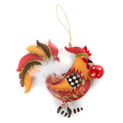 MacKenzie Childs Rooster Ornament
