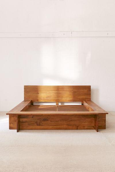 Modern Boho Platform Bed Frame   Urban Outfitters on Modern Boho Bed Frame  id=77111