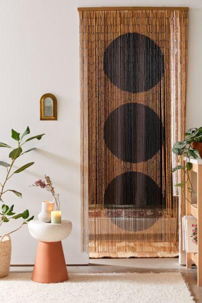big dot bamboo beaded curtain