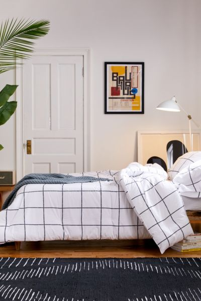 Distressed Grid Comforter Set Urban Outfitters