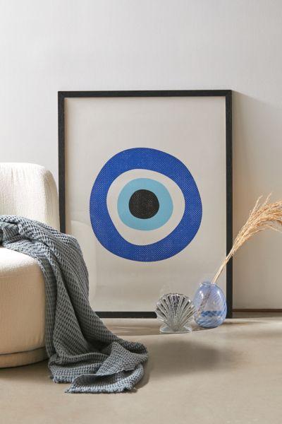 inogitna evil eye symbol art print