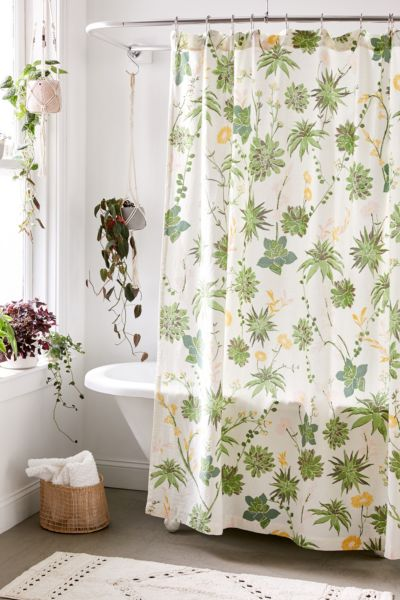 shower curtains that add stylish color