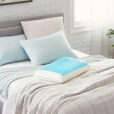 comfort revolution blue bubble gel memory foam pillow king
