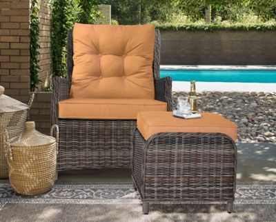 relaxalounger clermont outdoor patio chair and ottoman