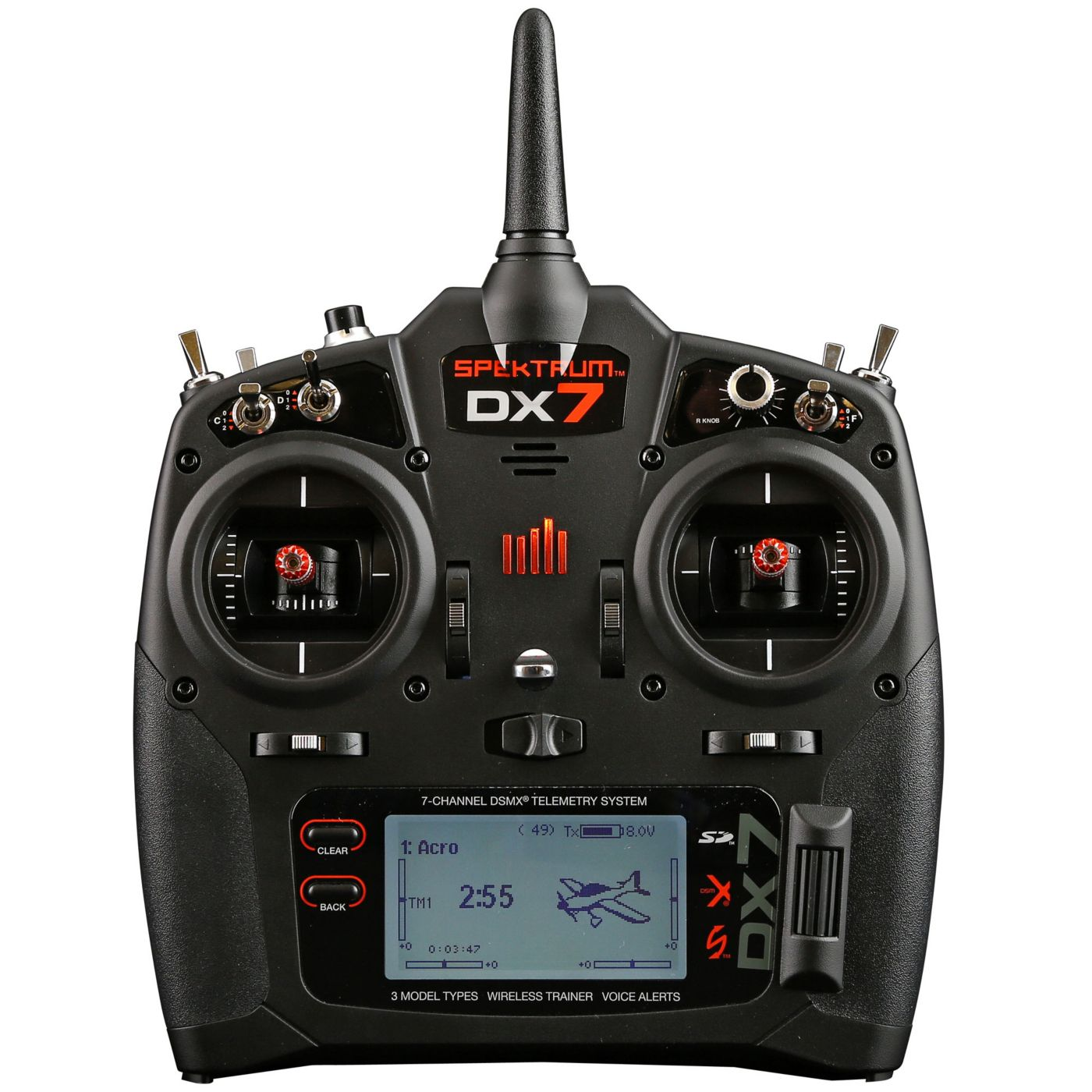 DX7 7Channel DSMX Transmitter Gen 2 with AR8000, Mode 2