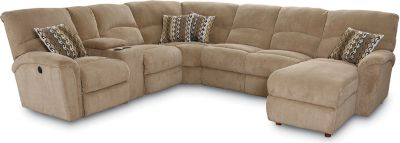 Sectional Sofa One Recliner