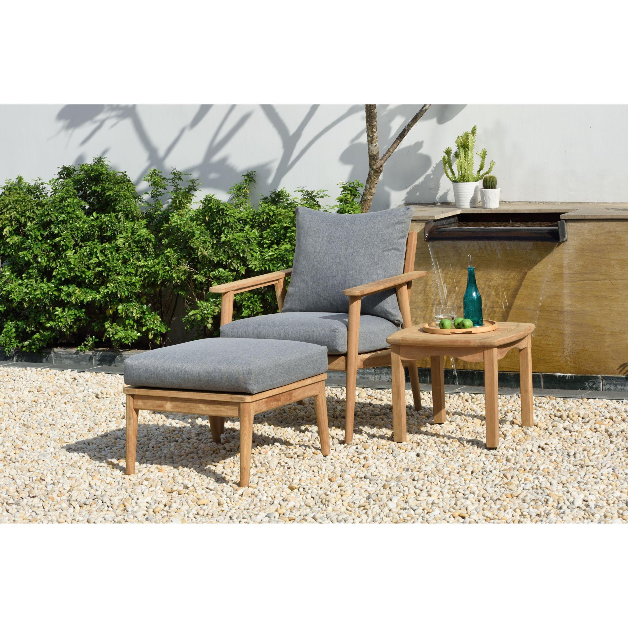 amazonia eva 3 pc teak patio seating set