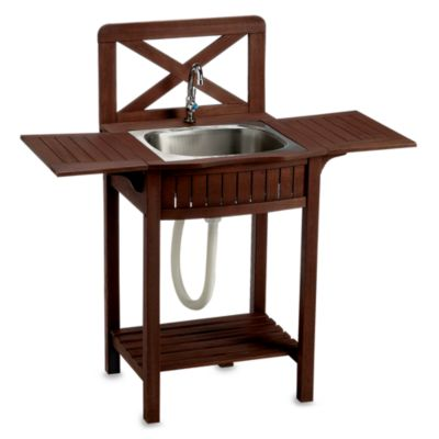 Outdoor Wood Sink Station - Bed Bath & Beyond on Outdoor Patio Sink id=79863
