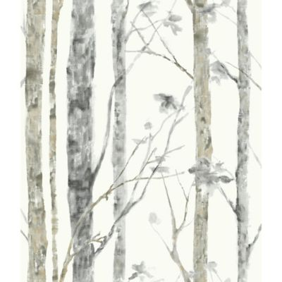 Roommates Birch Trees Peel Amp Stick Wall Dcor In White