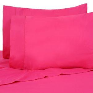 Buy Hot Pink Queen Sheets from Bed Bath   Beyond Premier Colorful 80 GSM Twin Sheet Set in Hot Pink