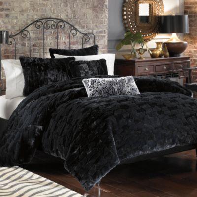 Binx Faux Fur Duvet Cover Set Black Bed Bath Amp Beyond