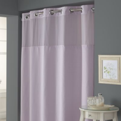 Hookless Waffle Lavender 71 W X 74 L Fabric Shower Curtain And Liner Set Bed Bath Amp Beyond