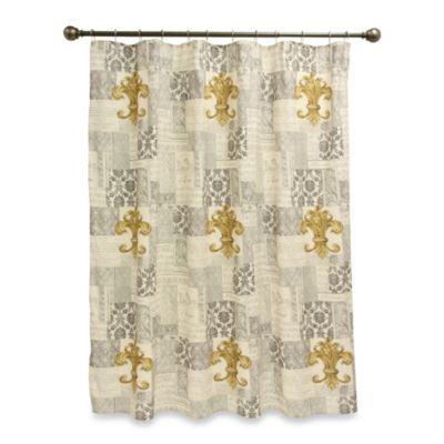 Fleur De Lis 70 Inch X 72 Inch Shower Curtain Bed Bath
