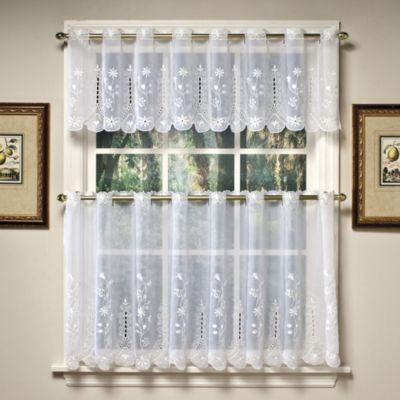 Buy Samantha 36 Inch Sheer Window Curtain Tier Pairs In