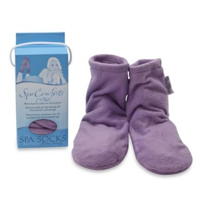 Spa Comforts Spa Socks In Lavender Bed Bath Amp Beyond