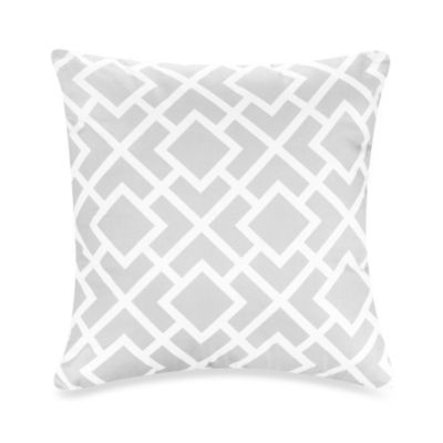 Sweet Jojo Designs Diamond Throw Pillow In GreyWhite WwwbuybuyBabycom