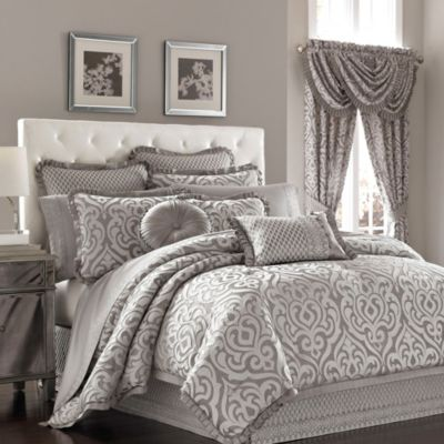 J Queen New York Luxembourg Comforter Set In Antique Silver Bed Bath Amp Beyond