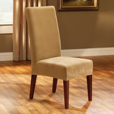 Sure Fit Stretch Pique Short Dining Room Chair Slipcover In Antique Bed Bath Amp Beyond
