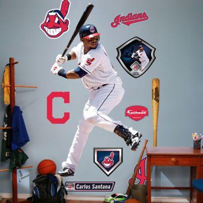 Fathead MLB Cleveland Indians Carlos Santana Home Wall