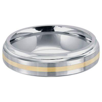 Buy Fiero Titanium And 14K Yellow Gold Step Edge Size 11