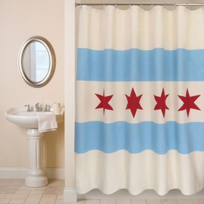 Park B Smith Chicago Flag Shower Curtain Bed Bath Amp Beyond