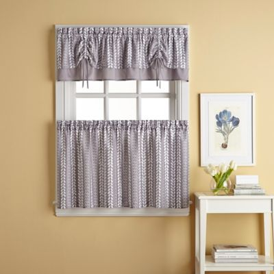 Buy Bloom 36 Inch Window Curtain Tier Pair In Grey From Bed Bath Amp Beyond