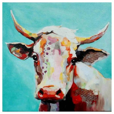 Molly Cow Whimsical Animals Canvas Wall Art Bed Bath