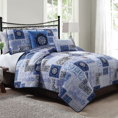 Buy Seychelle 5 Piece King Quilt Set In Navy From Bed Bath