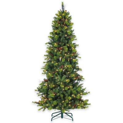 7 12 Foot Pre Lit Michigan Spruce Christmas Tree With