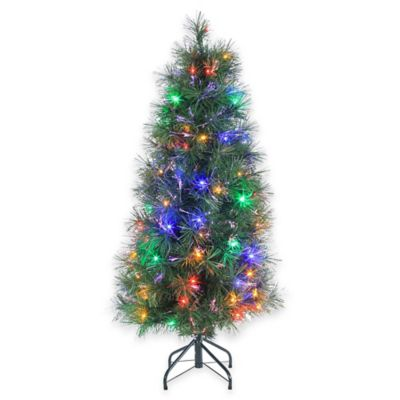 Fiberoptic 48 Inch Pre Lit Christmas Tree With Multi Color