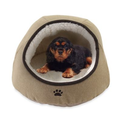 Precious Tails Felt Paw Embroidered Dome Pet Bed Www