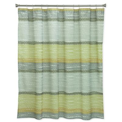 Bacova Rhythm Shower Curtain In YellowGrey Bed Bath Amp Beyond